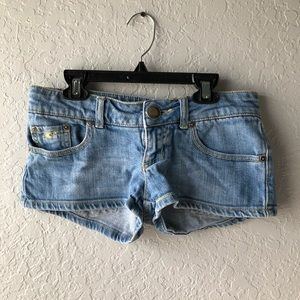 Denim/Yellow Stitching, O'Neill Jean Shorts Size 1